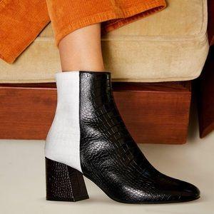 Freda Salvador Charm Angled Heel Booties